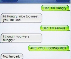 funny, dad, and hungry image