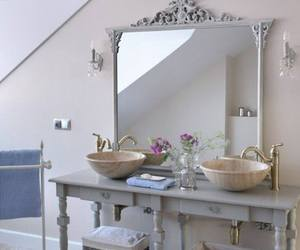 bathroom, silver, and toscany image