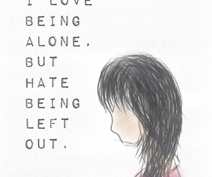 alone, girl, and hand drawn image