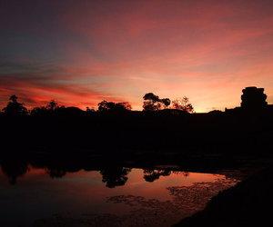 beautiful, Cambodia, and sunrise image