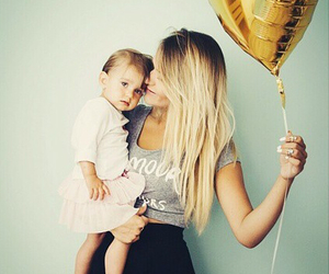 baby, baloon, and blond image