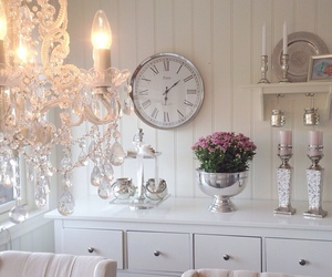 candle, clock, and decor image