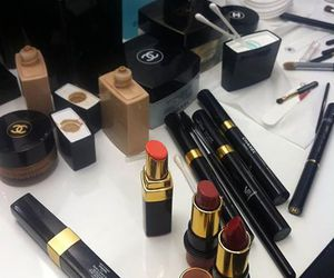 chanel, girl, and lipstick image