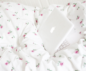 apple, bed, and flowers image