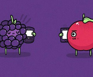 apple, blackberry, and phone image