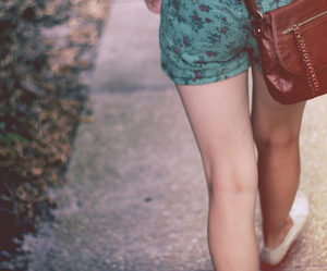 girl, shorts, and vintage image