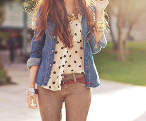 cool, red haired, and fashion image
