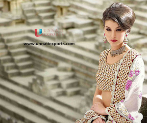 fashion, party wear sarees, and saris image
