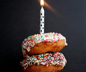 donuts, food, and candle image