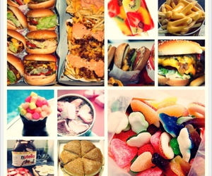 burger, candy, and ice-cream image