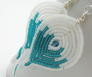beaded, jewelry, and white image