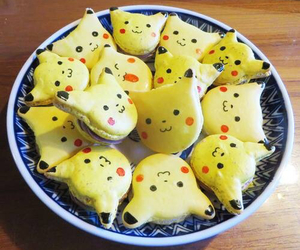 pikachu, sweet, and food image