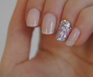 nail polish, nails, and pale image