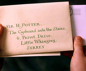 harry potter, Letter, and hogwarts image