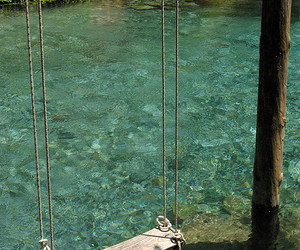 swing, water, and summer image