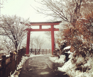 japan and snow image