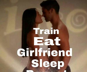 eat, girlfriend, and train image
