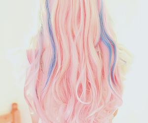 hair, pink, and kawaii image