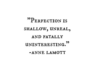 quotes, perfection, and life image