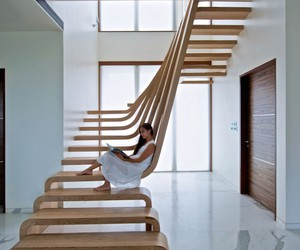 stairs, design, and interior image