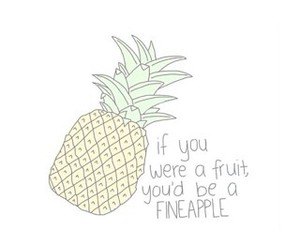 you, funny, and pineapple image