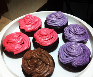 yummy cupcakes colourful image