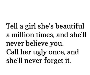 girl, beautiful, and ugly image