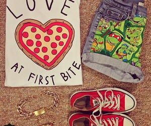 pizza, converse, and clothes image