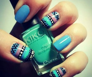 blue, colours, and nails image