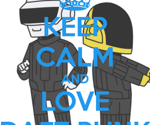 daft punk, dj, and i love image