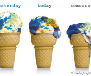 world, earth, and ice cream image