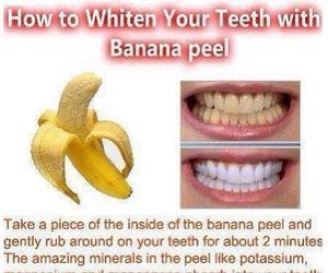 diy, teeth, and banana image