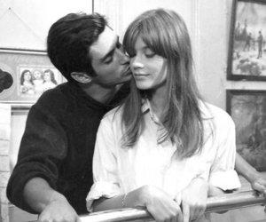 black and white, boyfriend, and girlfriend image