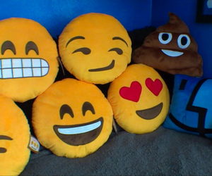 emoji, pillow, and smile image