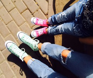 converse, fashion, and girl image