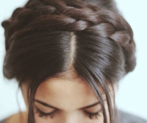 hair, braid, and girly image