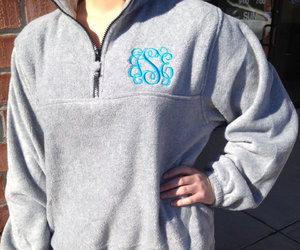 comfy, monogram, and pullover image