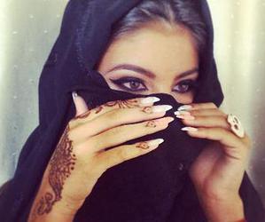 henna, beauty, and black image