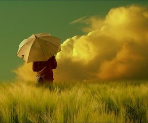 umbrella, clouds, and photography image