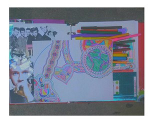 colorful, drawing, and markers image