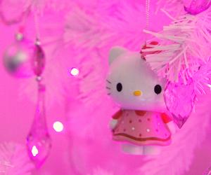 hello kitty, kawaii, and christmas image