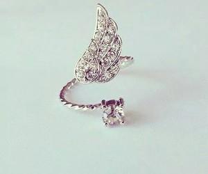 ring, diamond, and angel image