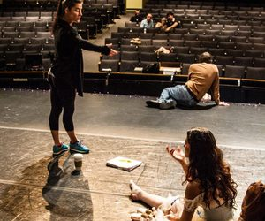 contemporary dance, dancer, and rehearsal image