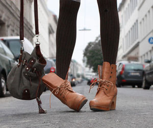 ankle boots, cute boots, and nude boots image