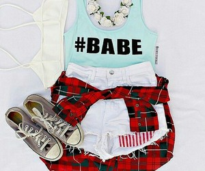 babe, outfit, and converse image