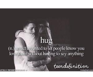 hug, teenager, and teen definition image