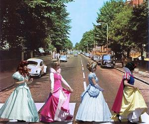 princess, disney, and beatles image