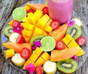 bananas, colorful, and eat image