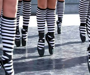 ballet shoes, point, and stripes image