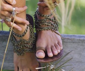 boho, shoes, and chic image